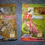 Зд пазлы,бабочка,динозавр, дракон,конструктор