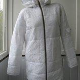 Курточка шанель плащевка, сверху гипюр теплая зима, на синтепоне