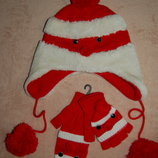 Комплект шапка перчатки-варежки