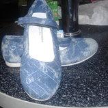 Шикарные туфли для девочки Шалунишка джинс