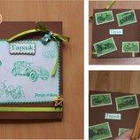 Блокнот для мальчика Мой Гараж ручная работа, подарок Новый год