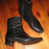 Кожа. осенние полу сапоги, ботинки, ботильоны