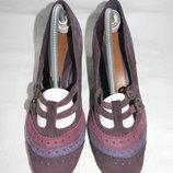 Женские замшевые туфли Clarks р.6 дл.ст 26см