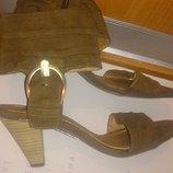 стильні босоніжки хакі р39 Marco Tozzi