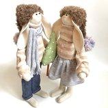 Пара заек тильда подарок на новый год Николая Рождество дочке девушке