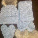 Зимняя шапка и шарф для мальчика