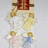 Елочные игрушки Ангелочки, ручная работа подарочная упаковка