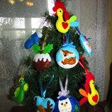 Игрушки из фетра на елку