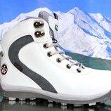 Зимние утепленные ботинки белого цвета 36-41 код 6492816785