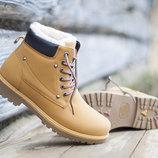 Утепленные ботинки под TIMber песочного цвета 36-41 код 5861271466