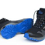 Зимние утепленные ботинки черно-синего цвета TRAPERY SOFT SHELL 41-46 код 6542449108