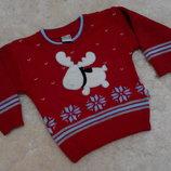Нарядный свитерок Teddy на девочку или мальчика 6-12 месяцев