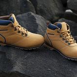 Кожаные зимние утепленный ботинки коричневого цвета EXPANDER CAT 43-46 код 6511166469
