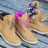 Женские трекинговые ботинки на толстой рельефной подошве 36-41 код 6441508058