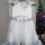 Платье снежинки новогоднее
