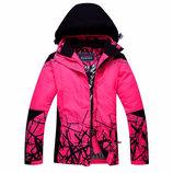Горнолыжная зимняя теплая термо куртка пуховик мембрана р 48-50
