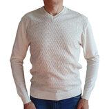 Белый мужской пуловер King Wool Турция