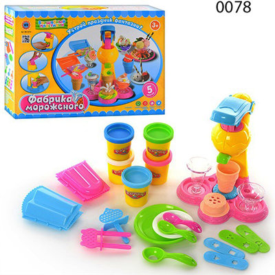 Тесто для лепки 0078 0694 Фабрика мороженого набор Волшебный пластилин play doh плей