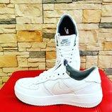 Кроссовки новые белые Nike air forse найки 36,37,38,39,40 Киев натуральная кожа