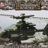 Конструктор Sluban 158 дет. военный вертолет 6200
