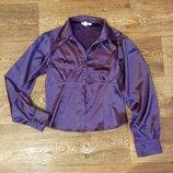 Классическая атласная блуза 44-46