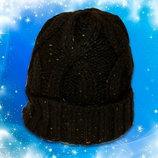 Теплая вязаная шапочка с отворотом на девочку Takko Fashion Германия