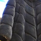 Luxx Новая норковая шуба мех KOPENHAGEN. Синяя ночь Хс-М