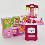 Детская кухня для девочки игрушечная Cook fun розовая с крана вода