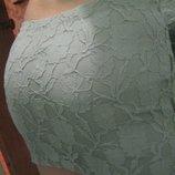 Стильная мини-юбка в обтяжку с сеточкой и гипюром. S-M. 44-46.