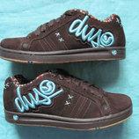 DVS Accomplice 37,5, 24 см замшевые кроссовки скейтера женские