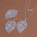 Серебро 925 Цена за Комплект, серебряная цепочка, серебряные серьги. Новое, в наличии