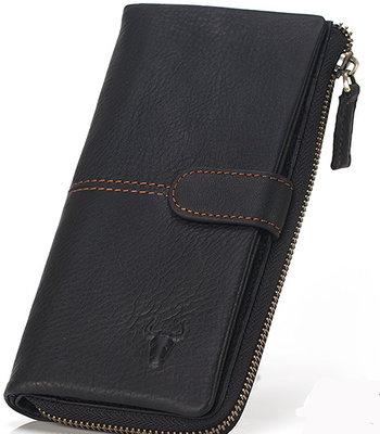 кошелёк - клатч мужской из плотной натуральной кожи с восковой пропиткой