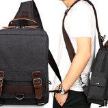 Мужская сумка рюкзак барсетка Натуральная ткань