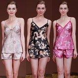 6-34 Пижама/ Атласная женская пижама/ комплект / Эротическое белье / Сексуальное белье