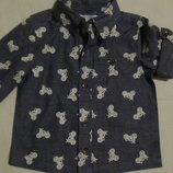 рубашка 6-9мес M&Co