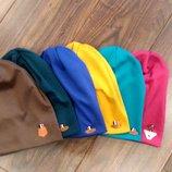 Утепляемся Стильные трикотажные шапочки на флисе