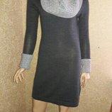 Вязанное шерстяное платье размер 10-12