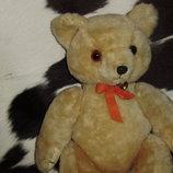 роскошный винтажный мишка медведь из Англии солома мохер состояние 41 см