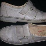45 -29.5 кожа легкие летние туфли M John Made in Austria
