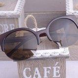 Очки солнцезащитные Cat Eye коричневые в наличии