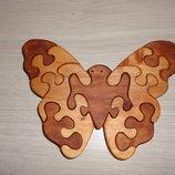 Бабочка. Интерьерная игрушка. Пазлы из дерева