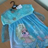 Платье карнавал 3-4 года рост 98-104 см принцесса Анна и Эльза Дисней двухстороннее