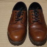 Благородные коричневые кожаные полуботинки Ellesse Thinsulate Италия 9