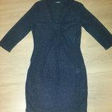 Вечернее платье черное с люрексом с блеском Очень красивое и праздничное