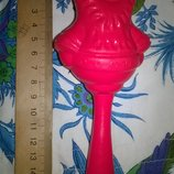 Коллекционная винтажная игрушка старинная целлулоид Погремушка,кукла