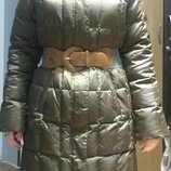 Бронь до 04.11 Зимний пуховик Финляндия 44/46 Finn Flare пух, стеганная куртка пальто фирменный