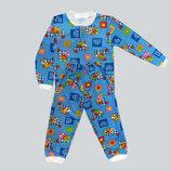 нова от 1-6 лет байка манжеты штанах и рукавах теплая байковая хебешка пижамка пижама тепла