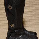 Изящные черные кожаные сапоги - броги Seasons. Голландия . 37 р.