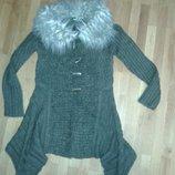 Кардиган свитер удлиненный молодежный Foglie Rosse