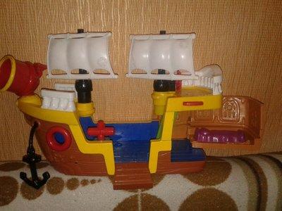 Большой пиратский корабль судно параход игровой 40×25 Фишер Прайс